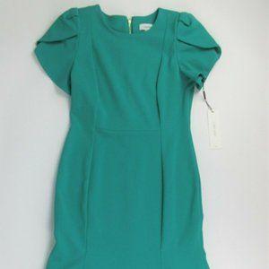 NWT $134 Calvin Klein Womens 8 Flounce  Midi Dress